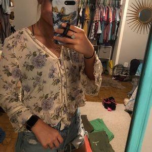 American Eagle floral blouse